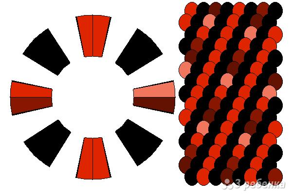 Схема фенечки кумихимо 15643