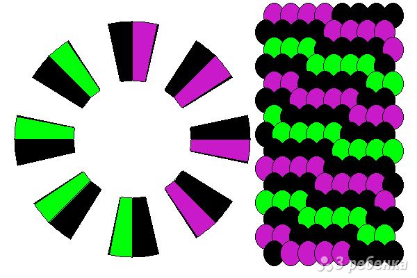 Схема фенечки кумихимо 15639