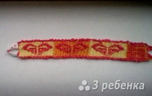 Схема фенечки прямым плетением 14939