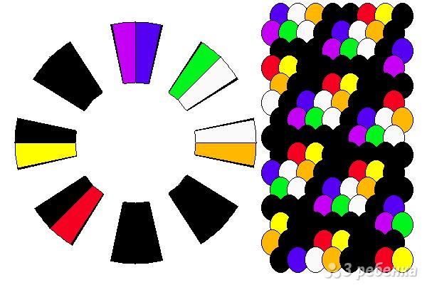 Схема фенечки кумихимо 15631