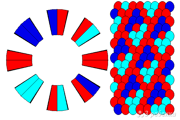 Схема фенечки кумихимо 15627