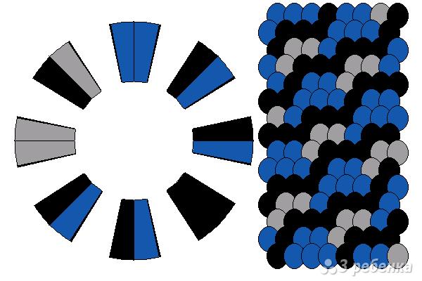 Схема фенечки кумихимо 15623