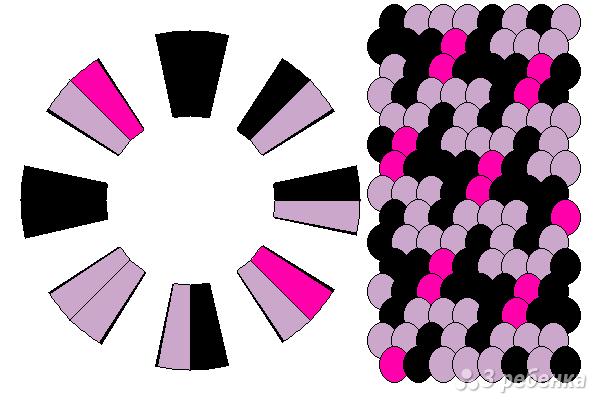 Схема фенечки кумихимо 15619