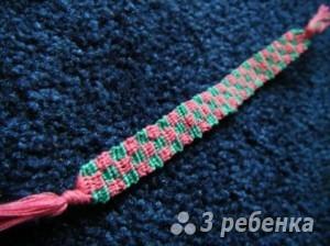 Схема фенечки прямым плетением 14906