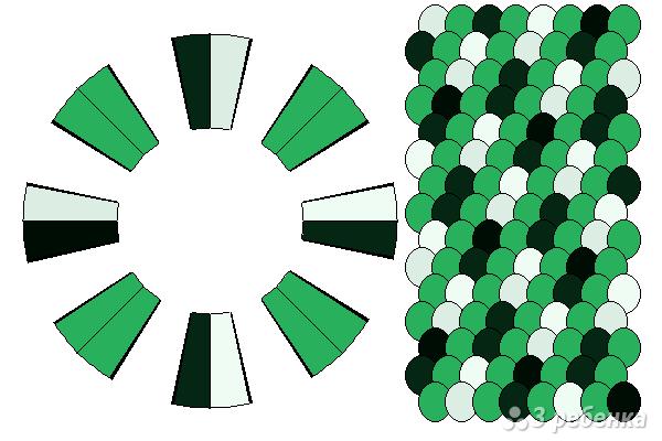 Схема фенечки кумихимо 15615