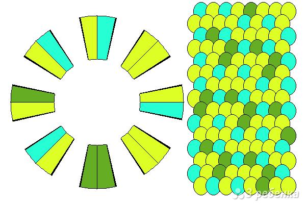 Схема фенечки кумихимо 15611
