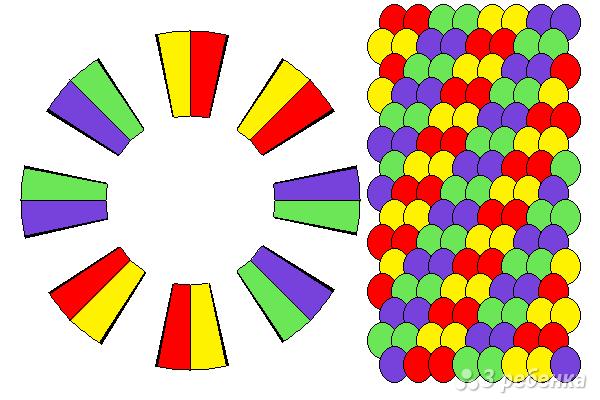 Схема фенечки кумихимо 15493