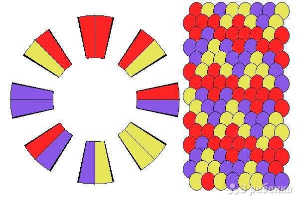 Схема фенечки кумихимо 15603