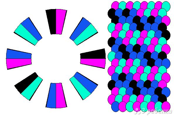 Схема фенечки кумихимо 15599