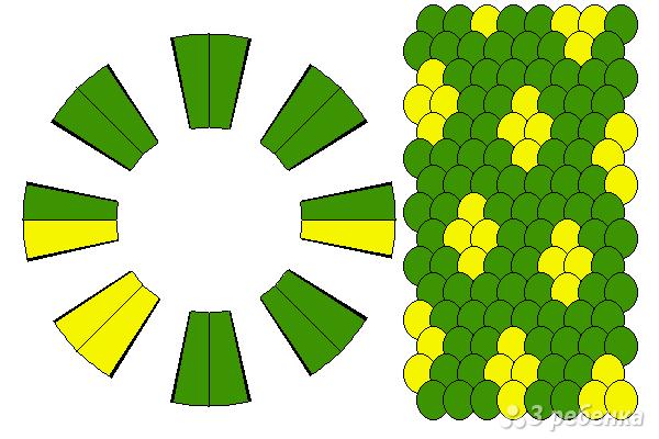 Схема фенечки кумихимо 15593