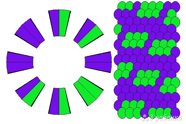 Схема фенечки кумихимо 15577