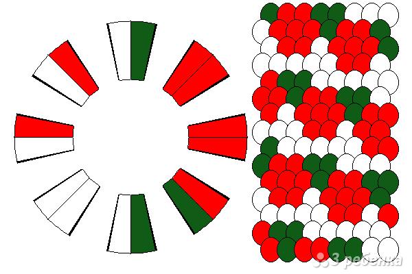 Схема фенечки кумихимо 15573