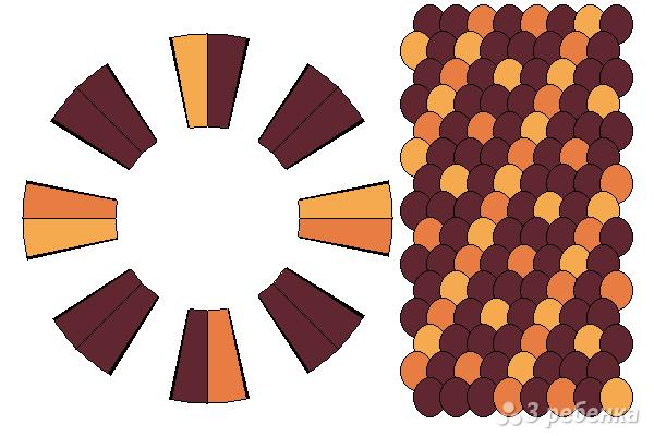 Схема фенечки кумихимо 15569