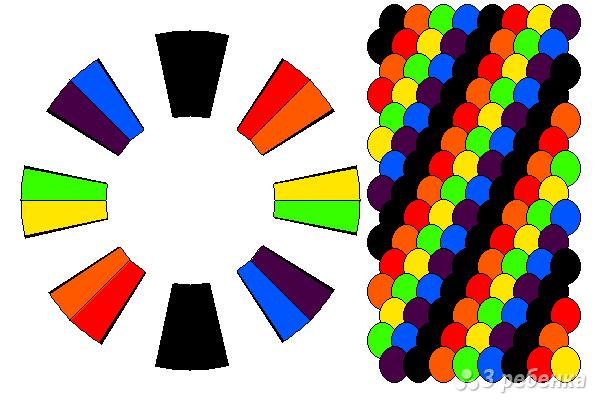 Схема фенечки кумихимо 15488