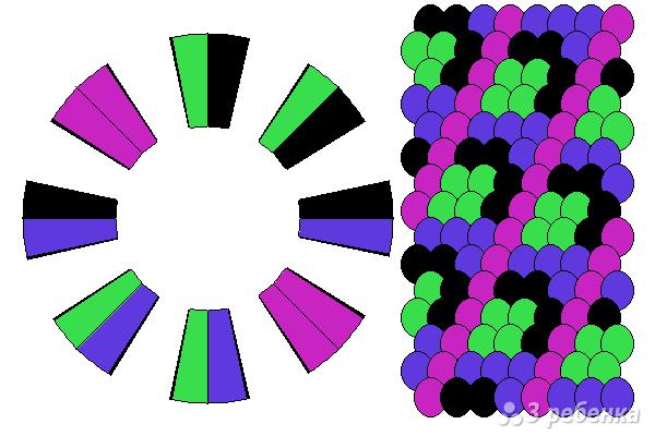 Схема фенечки кумихимо 15565