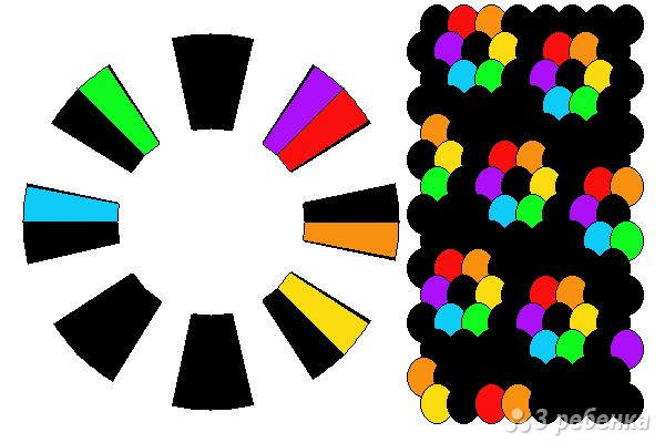 Схема фенечки кумихимо 15505