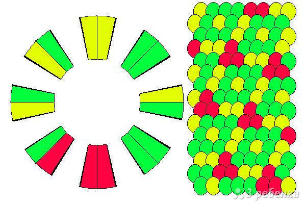 Схема фенечки кумихимо 15561