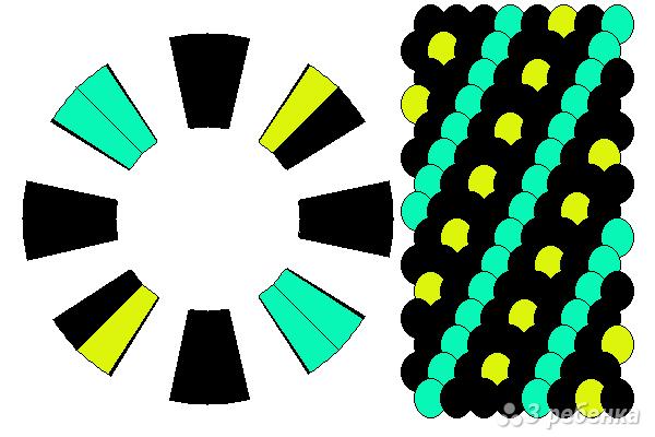 Схема фенечки кумихимо 15557