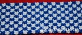 Схема фенечки прямым плетением 14822