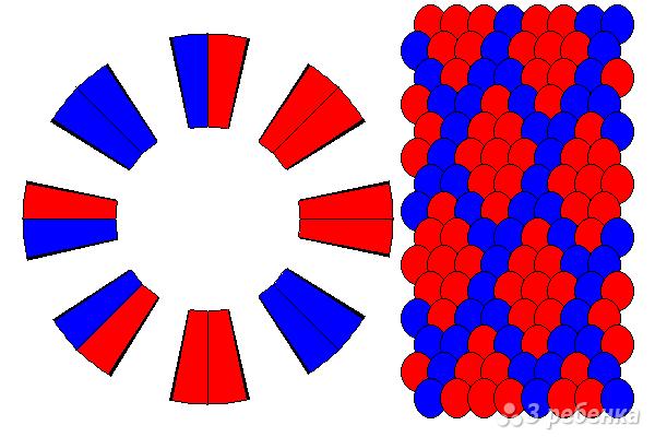 Схема фенечки кумихимо 15497