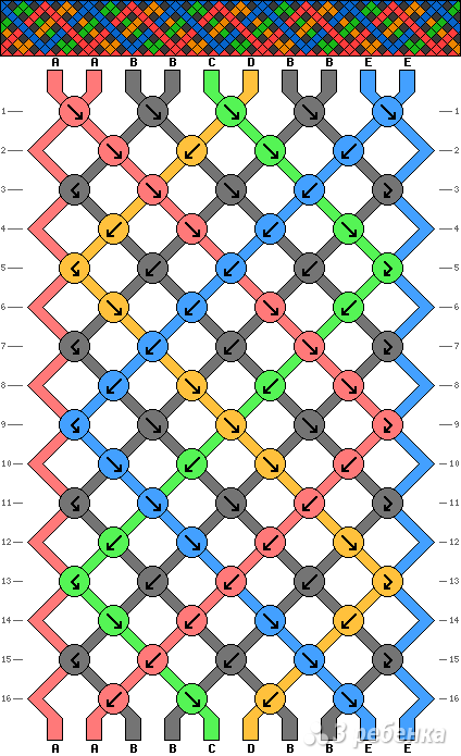 Схема фенечки 13957