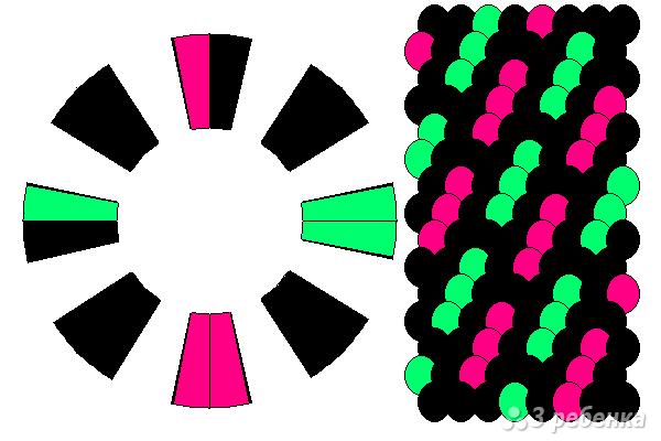 Схема фенечки кумихимо 15553