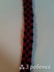 Схема фенечки прямым плетением 14645