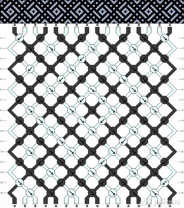 Схема фенечки 14111