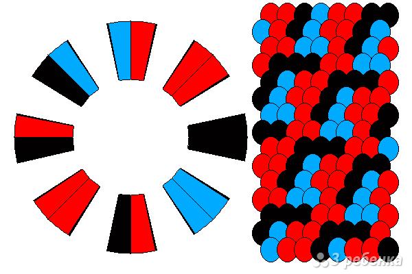 Схема фенечки кумихимо 15549