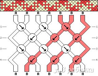Схема фенечки 14103