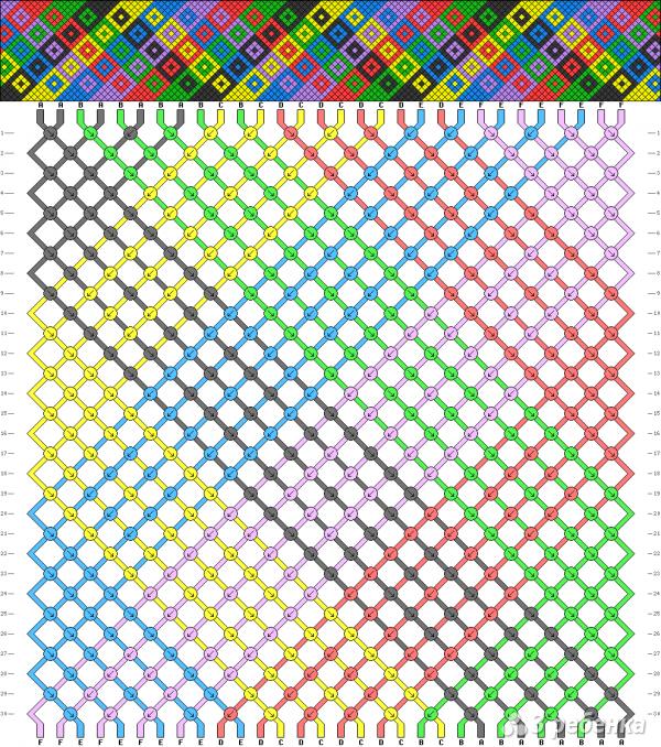 Схема фенечки 14132