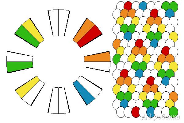 Схема фенечки кумихимо 15536