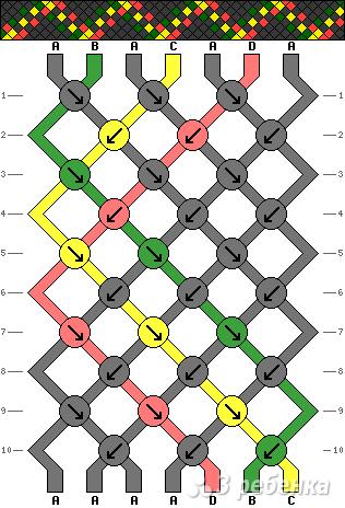 Схема фенечки 14099