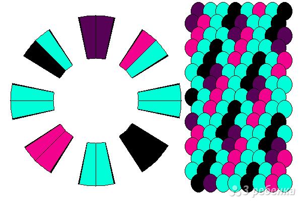 Схема фенечки кумихимо 15531
