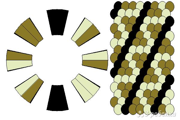 Схема фенечки кумихимо 15526