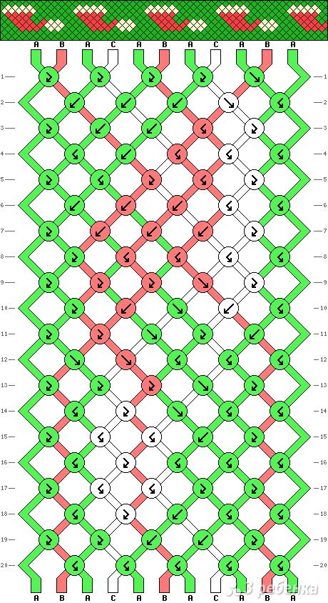 Схема фенечки 15855