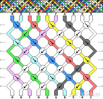 Схема фенечки 14010
