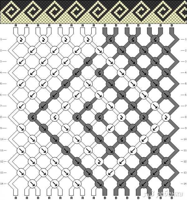 Схема фенечки 14125