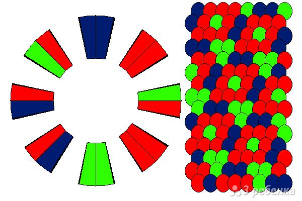 Схема фенечки кумихимо 15518