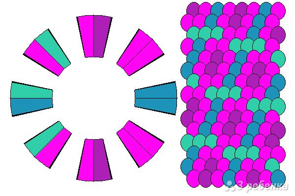 Схема фенечки кумихимо 15514