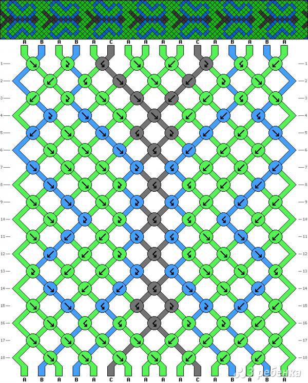 Схема фенечки 15834