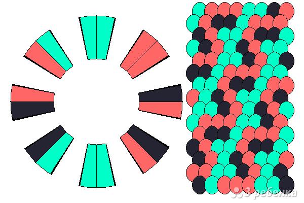 Схема фенечки кумихимо 15510