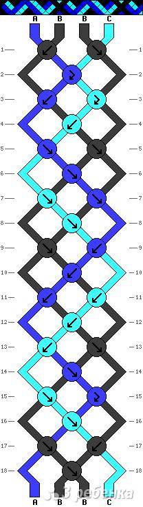 Схема фенечки 13912