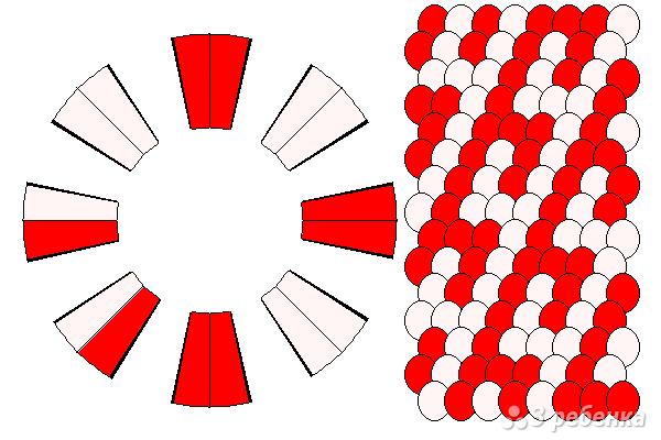 Схема фенечки кумихимо 15484
