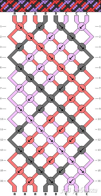 Схема фенечки 14177