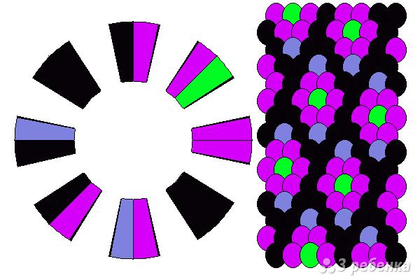 Схема фенечки кумихимо 15479