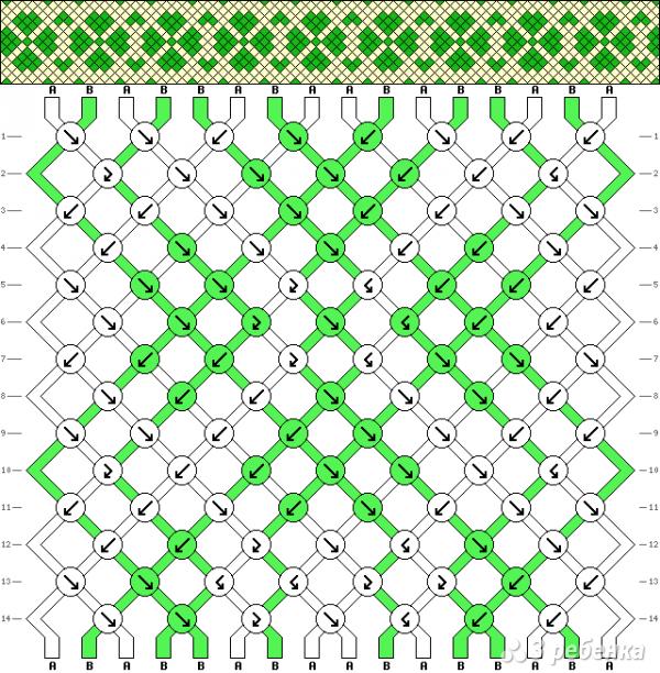 Схема фенечки 15823