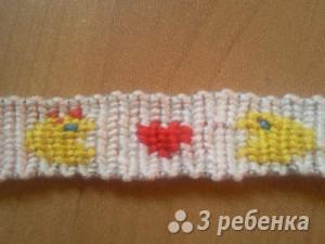 Схема фенечки прямым плетением 14782