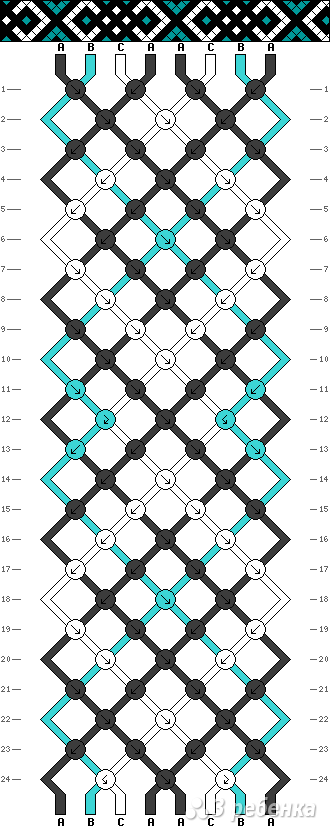 Схема фенечки 14148