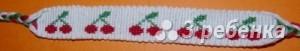 Схема фенечки прямым плетением 14696